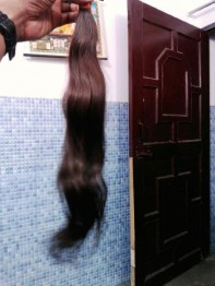 Ganpati Single Drawn Remy Hair