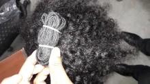 Ganpati Indian Natural virgin wavy Human Hair Extension