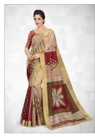 PR Fashion Cotton Silk Multi Color Saree With Unstitched Blouse - PRM7165