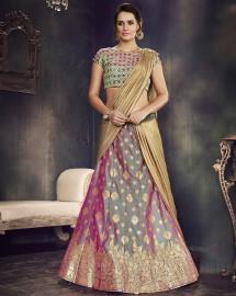 PR Fashion Art Silk Multi Lehenga Choli - PRM7491