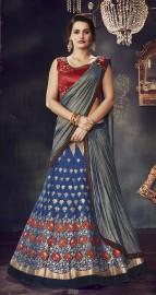 PR Fashion Art Silk Blue Lehenga Choli - PRM7493
